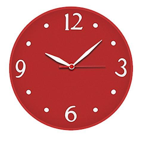 Imagem de Relógio de Parede Silencioso Vermelho Delta