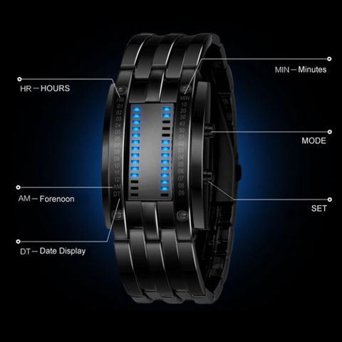 Imagem de Relógio de Pulso Aço de Liga LED Digital Preto