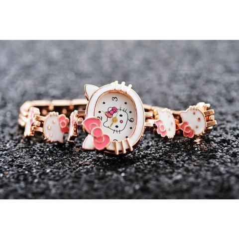 Imagem de Relógio de Pulso Hello Kitty Cristal Branco