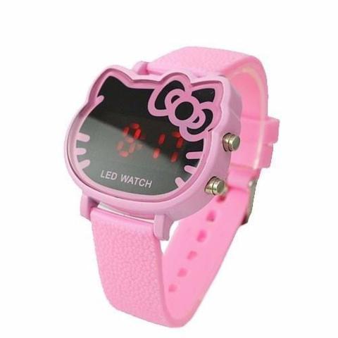 Imagem de Relógio de Pulso Hello Kitty LED Digital Rosa Bebê
