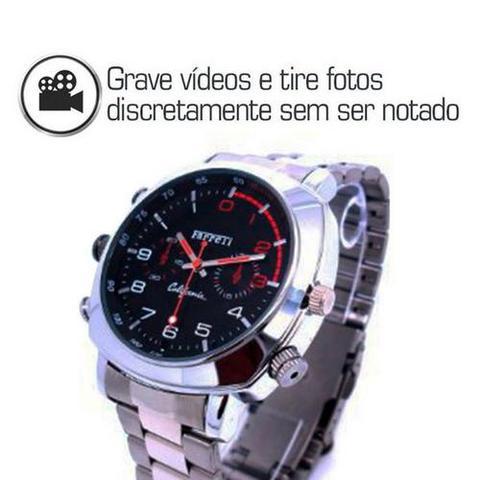 0b55854b5e6 Imagem de Relógio De Pulso Masculino com Câmera Filmadora Espiã Visão  Noturna