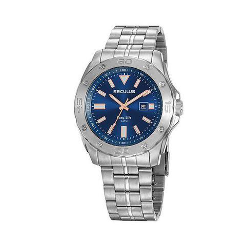 Imagem de Relógio de pulso seculus masculino aço prata