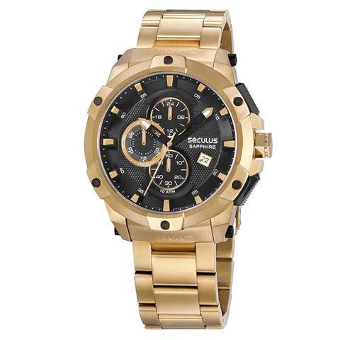 Imagem de Relógio de Pulso Seculus Masculino com Cronógrafo 13026GPSVDA7 - Dourado