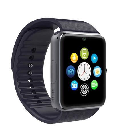 Imagem de Relógio De Pulso Smartwatch Gt08 Bluetooth Touch Câmera Android Celular Chip Sim Chamadas Passômetro Sono + Fone Ouvido S6