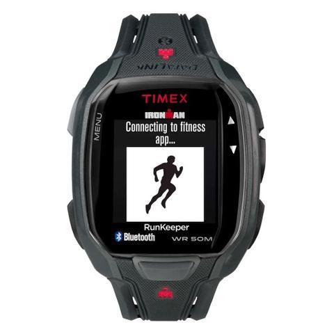 Imagem de Relógio de Pulso Timex Run x50+ Smartwatch Unissex com Pulseira de Borracha TW5K84600 - Preto