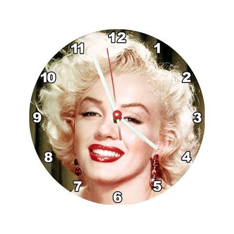 e9d32a4606d Relógio Decorativo Marilyn Monroe Rosto Colorido - All classics ...