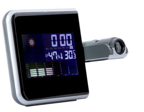 d8a6efbfe42 Imagem de Relogio Despertador Com Projetor Hora Higrômetro Termômetro Mede  Temperatura Acende Luz Led (DS