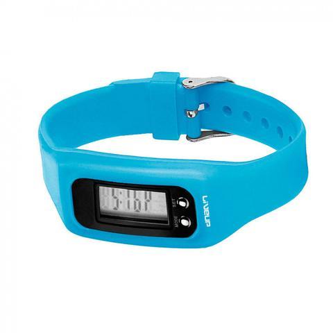Imagem de Relogio Digital de Pulso em Silicone com Contador de Passos, Calorias e Distancia Azul  Liveup