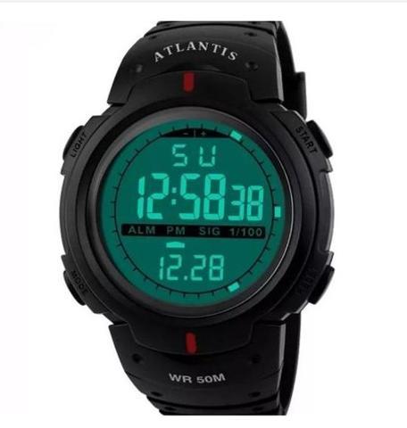 Imagem de Relógio Digital Masculino Esportivo Prova Dágua Atlantis