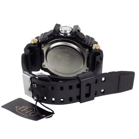 Imagem de relógio digital masculino pulseira ajustável silicone e cronometro e alarme