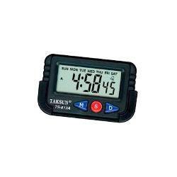 Imagem de Relogio Digital Portatil Automotivo Ou Mesa Com Despertador, Cronometro E Data Para Carro