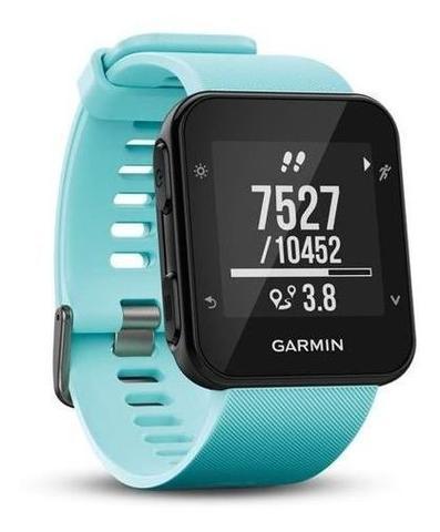 Imagem de Relógio Esportivo Garmin Forerunner 35 Corrida Gps Monitor Cardiaco Azul Gelo Novo