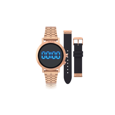 44ce66a5b6 Relogio Euro Feminino Fashion Fit Eubj3407ac t4p Rose Gold - Relógio ...