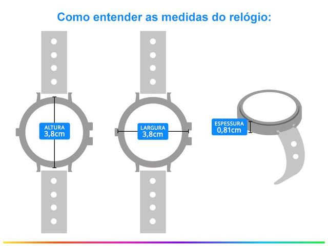 Imagem de Relógio Feminino Allora Analógico AL2035FNR/K4D