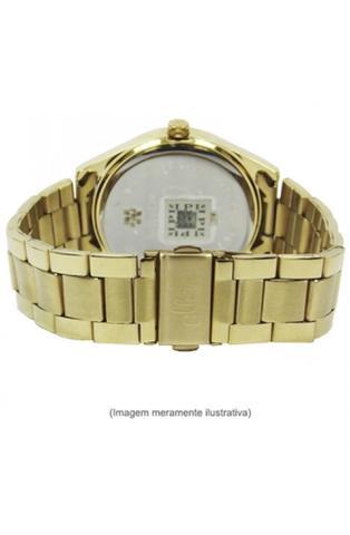Imagem de Relógio feminino allora dourado com branco pulseira em aço inox  al2035hl/4k