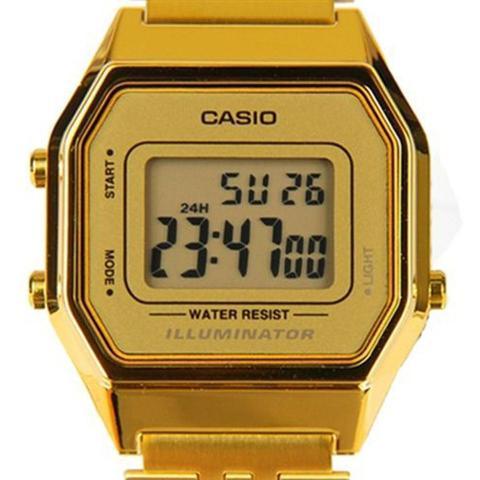 9af2d698438 Relogio Feminino Casio Digital - La680wga-9df - Dourado - Relógio ...