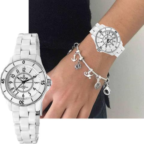 Imagem de Relógio feminino champion cp28159b branco fashion