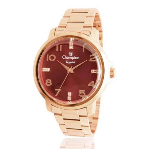 ff167b74703 Relógio Feminino Champion Crystal CN25565I Rose - Relógio Feminino ...
