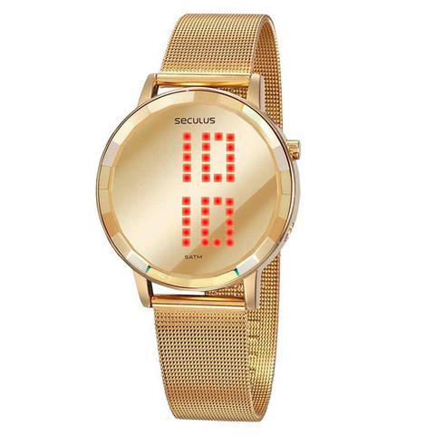 Imagem de Relógio Feminino Digital Dourado Seculus 77063LPSVDS1
