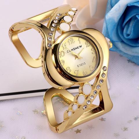 Imagem de Relógio Feminino Dourado Bracelete Analógico Quartz
