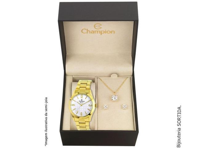 Imagem de Relógio Feminino Dourado Champion Cn26546W