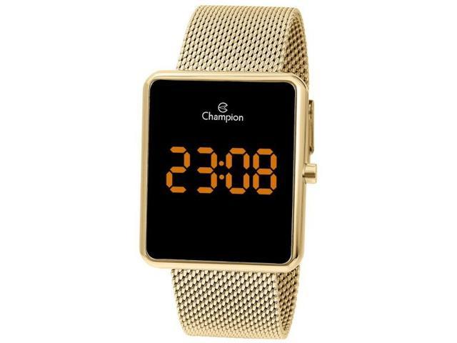 Imagem de Relógio Feminino Dourado Champion Digital Quadrado CH40080J