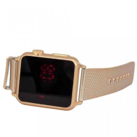 Imagem de Relógio Feminino Dourado LED