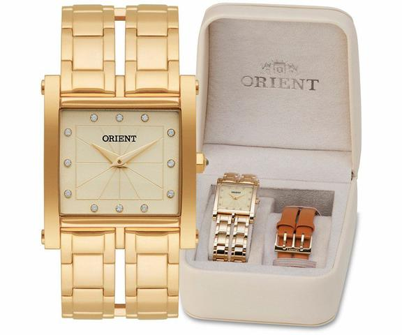 Imagem de Relógio Feminino Dourado Orient LGSS0050 C1MX Eternal + KIT