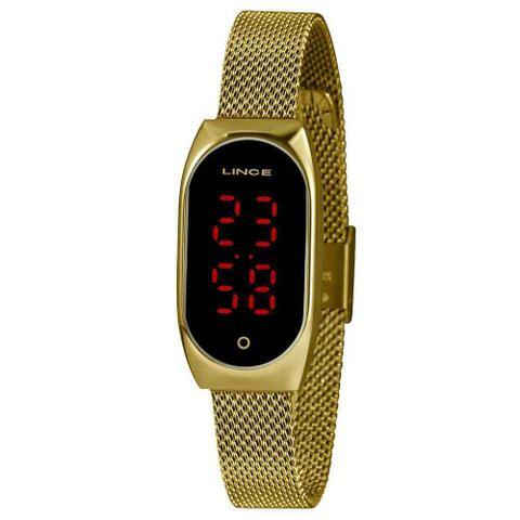 Imagem de Relógio Feminino Lince Dourado Led Digital LDG4641L PXKX