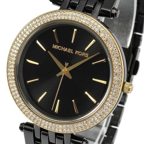 Imagem de Relógio Feminino Michael Kors Mk3322 Preto detalhes em cristais dourado