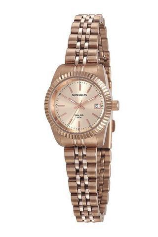 Imagem de Relógio Feminino Seculus 77043LPSVRA1 Rosé Aço