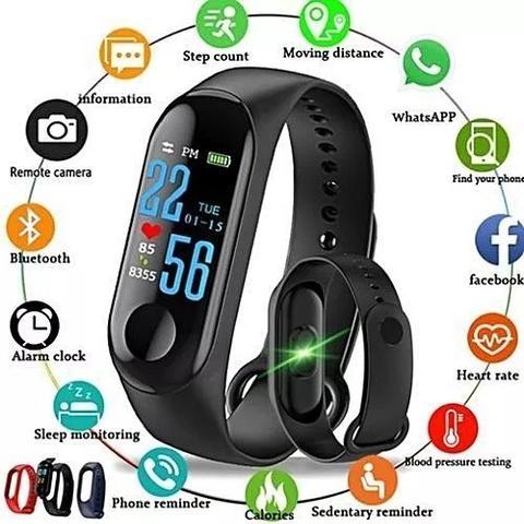 Imagem de Relogio fitness bracelet m3 health bluetooth smart band - Gr imports