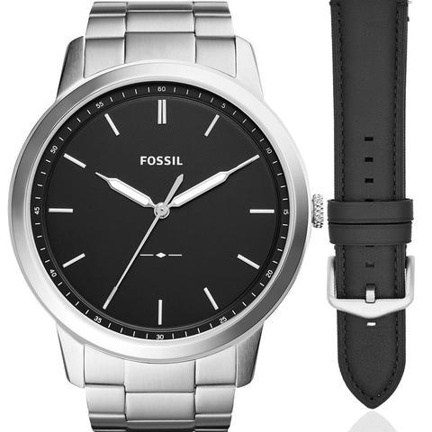 Imagem de Relógio Fossil Masculino Prata Troca Pulseira FS5451SET/N