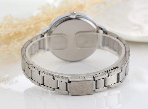Imagem de Relógio Geneva Luxo Feminino Aço Prateado