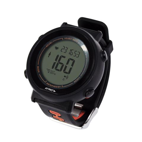 Imagem de Relógio Heart Rate Atrio Fortius Preto e Laranja Monitor Cardíaco Com Cinta ES049