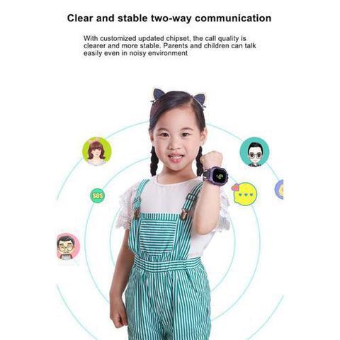 Imagem de Relógio Inteligente Q19  prova dágua Para Crianças SOS e camera - VERMELHO