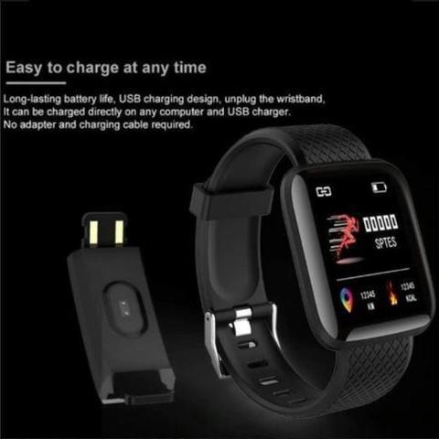 Imagem de Relogio Inteligente Smartwatch D13 Vermelho Pedometro Multi-esportes Km Kcal FC PA Sono