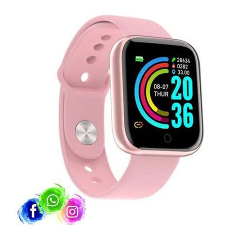 Imagem de Relogio Inteligente Smartwatch D20 Bluetooth Rosa
