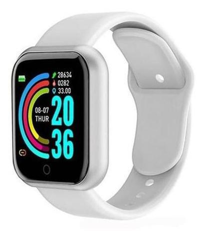 Imagem de Relogio Inteligente Smartwatch Y68 Bluetooth BRANCO