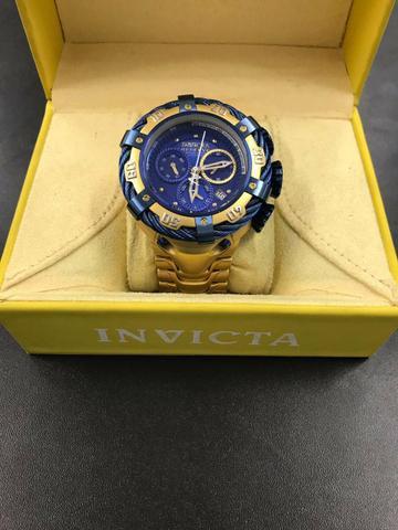Imagem de Relógio Invicta Bolt Modelo 21361 Dourado / Azul