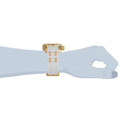 Imagem de Relógio invicta pro diver 24840 banhado ouro 18k masculino edição especial cronógrafo pulseira borracha
