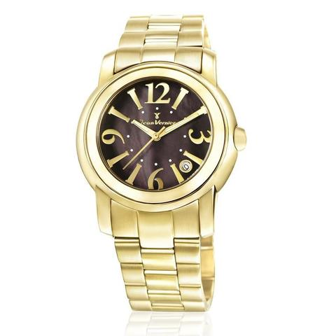 Imagem de Relógio Jean Vernier Feminino Ref: Jv1008 Fashion Dourado