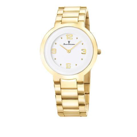 Imagem de Relógio Jean Vernier Feminino Ref: Jv1121 Social Slim Dourado