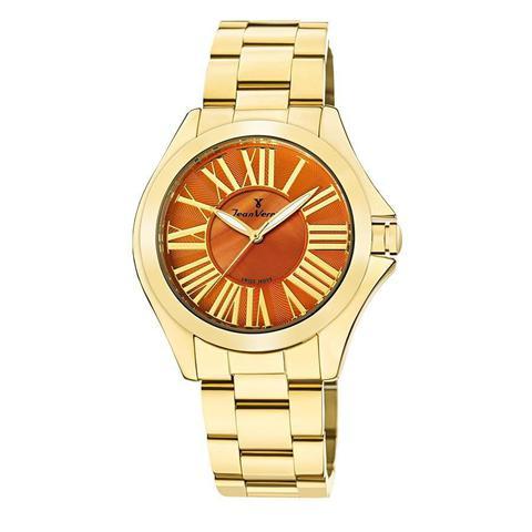 Imagem de Relógio Jean Vernier Feminino Ref: Jv11271 Fashion Dourado
