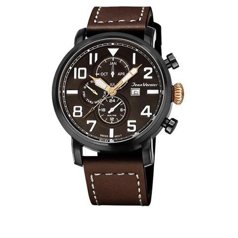 Imagem de Relógio Jean Vernier Masculino Ref: Jv11531 Cronógrafo Black