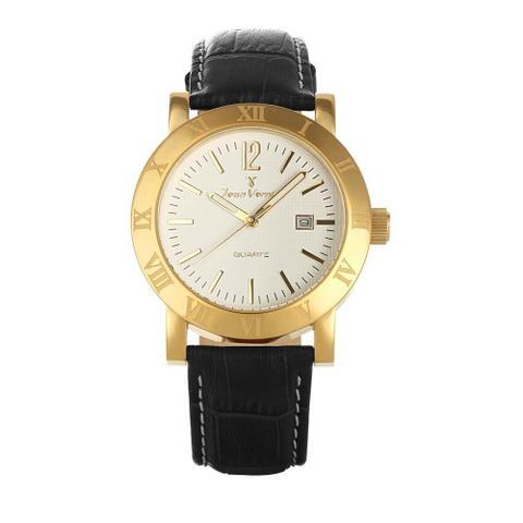 Imagem de Relógio Jean Vernier Masculino Ref: Jv231p Social Dourado
