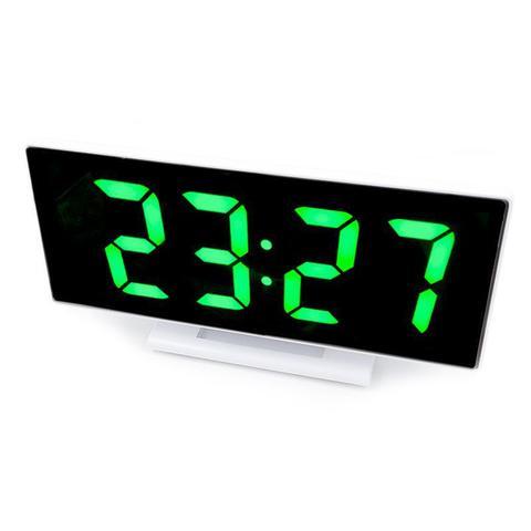 Imagem de Relogio LED Digital Espelhado de Mesa Alarme Despertador Temperatura USB