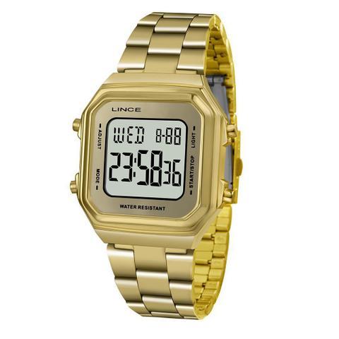 Imagem de Relógio Lince Feminino Digital Dourado  SDG616L