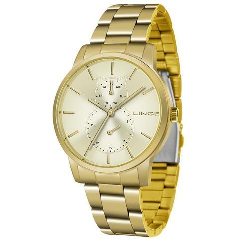 Imagem de Relógio Lince Feminino Ref: Lmgj086l C1kx Multifunção Dourado