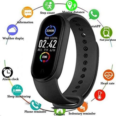 Imagem de Relógio M5 Fit Lançamento Smartwatch De Freqüência Cardíaca